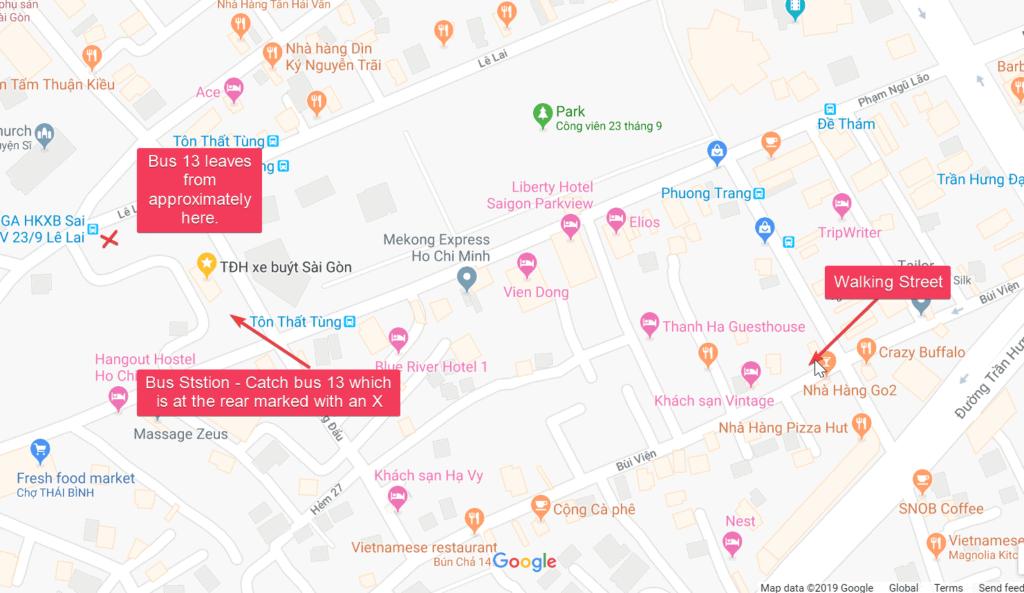 Bus Station Map HCMC