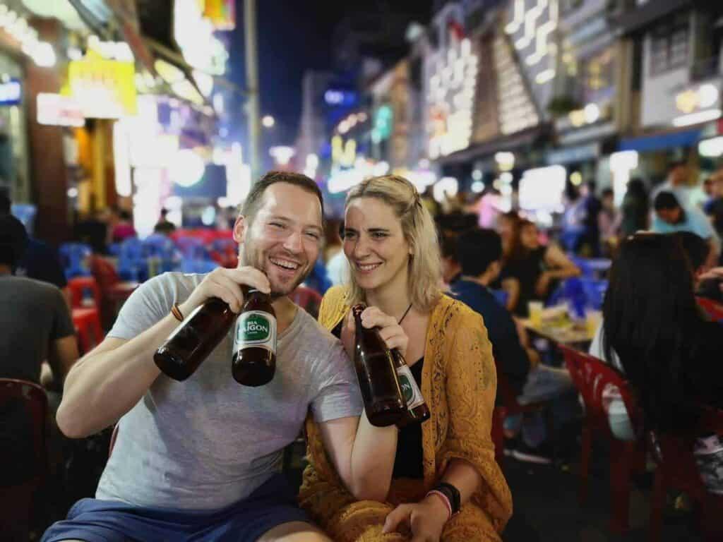 Drinking Beer on Walking St, Vietnam