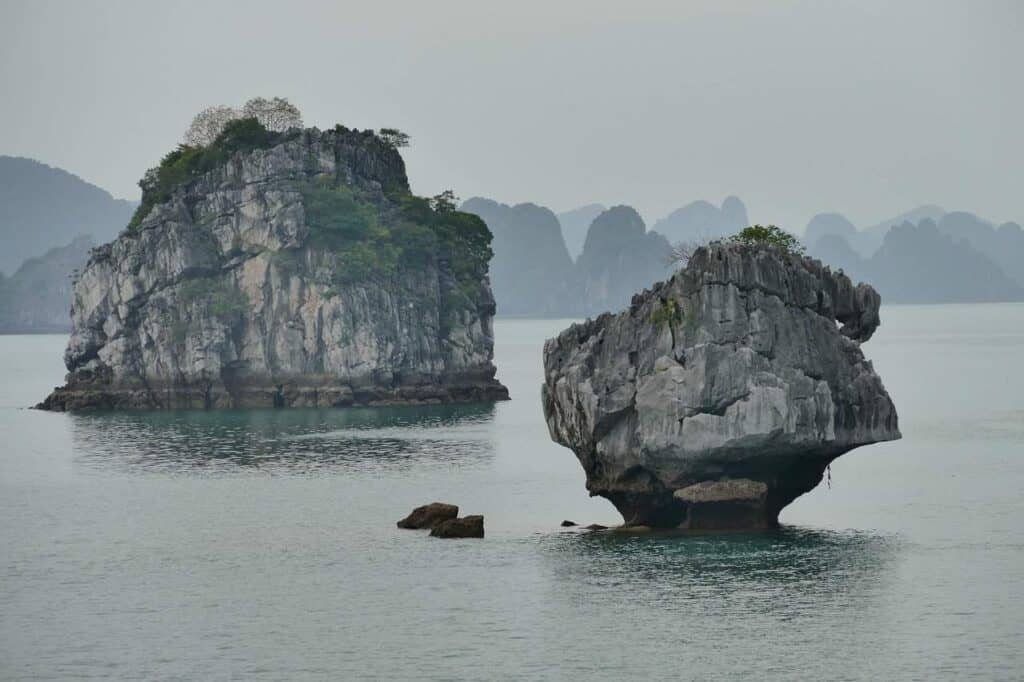 Karst Formations in Halong Bay