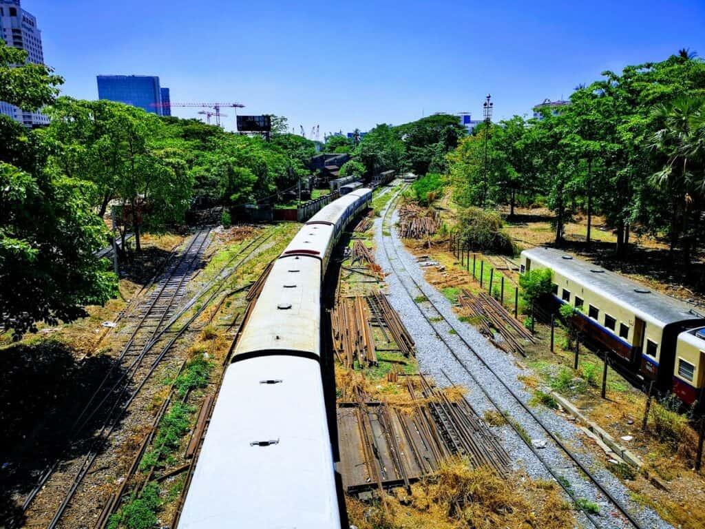 Train Yard in Yangon Myanmar