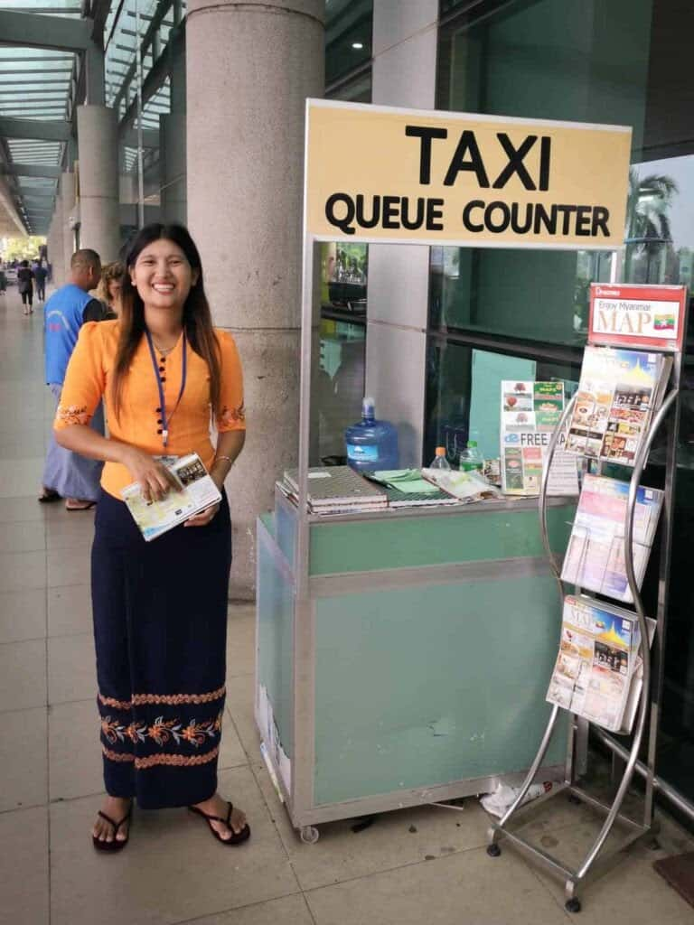 Pre-Paid Taxi Stand at Yangon International Airport