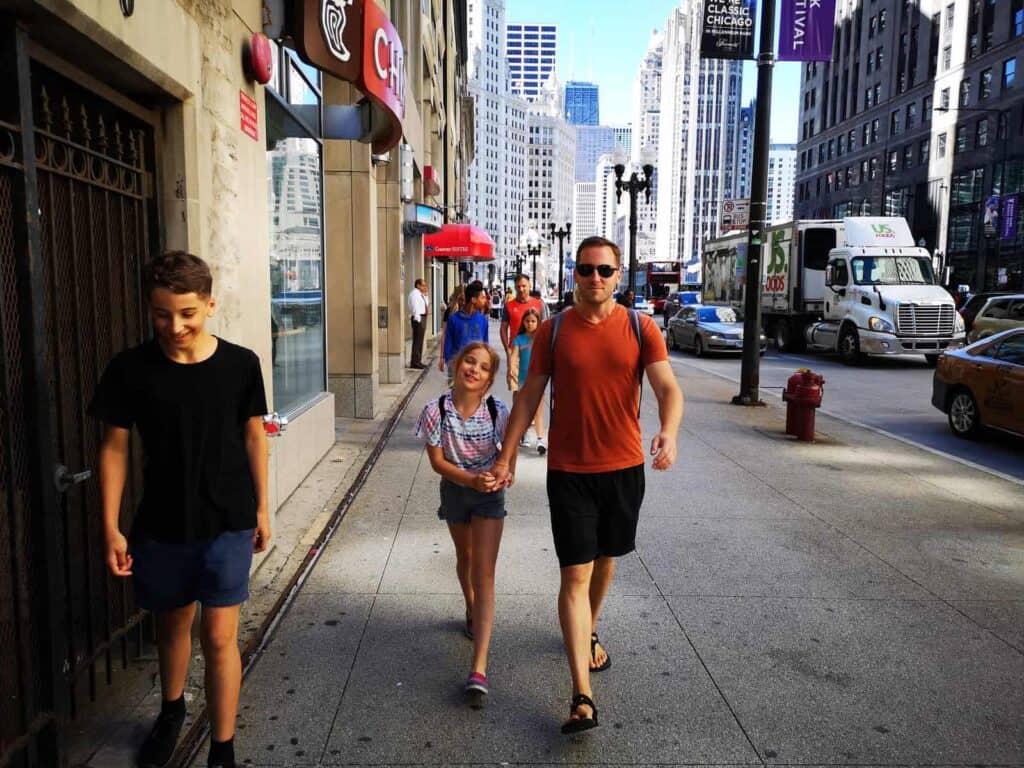 Walking in Chicago